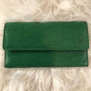 Louis Vuitton Green Epi Wallet